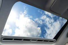 an automobile sunroof